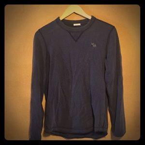 Abercrombie Muscle Shirt Long Sleeve Dark Blue